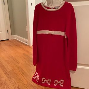 Girls knit dress, size 10-12.